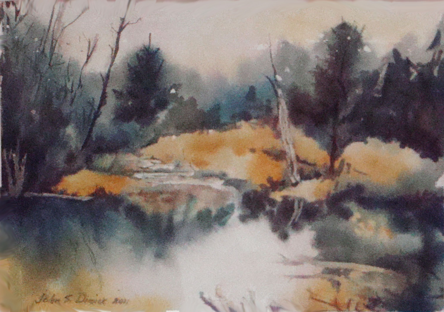 Watercolor paintings john s dimick for Paintings to copy