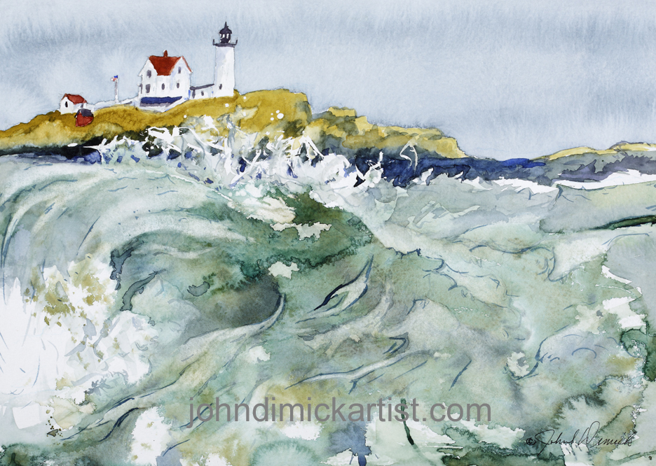 surf at the nubble